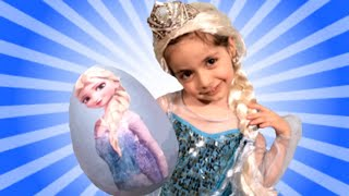 Elsa's Giant Surprise Egg Opening - Lots of Toys + Movie Songs!