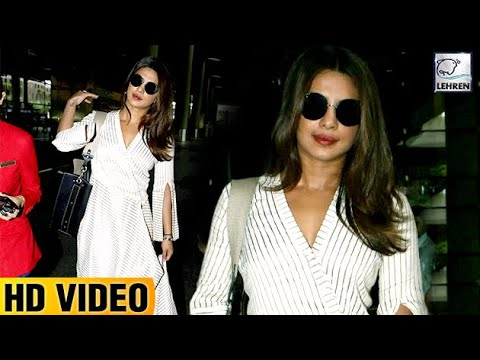 Priyanka Chopra Looks Stunning While Returning Fro