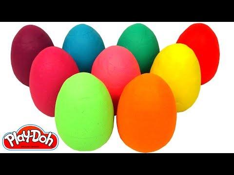 Pocoyo português Brasil - Aprenda Cores com 9 Ovos Surpresas em Português Brasil de Massinha Play Doh