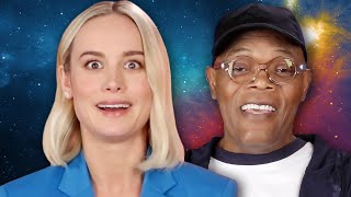 "Video The Cast of ""Captain Marvel"" Plays Superhero Would You Rather MP3, 3GP, MP4, WEBM, AVI, FLV Maret 2019"