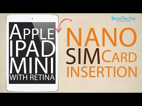 Apple iPad Mini Retina - How to change the SIM card