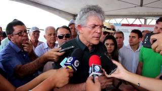 Ricardo Coutinho inaugura obra da PB 386, entre Conceição e a divisa com o Ceará