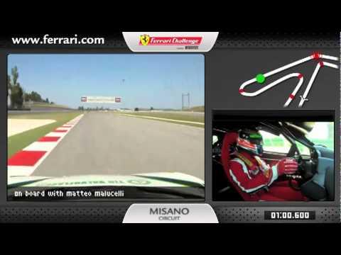 ☆ On-board Ferrari 458 Challenge Matteo Malucelli Misano 2011 - New Carjam Radio