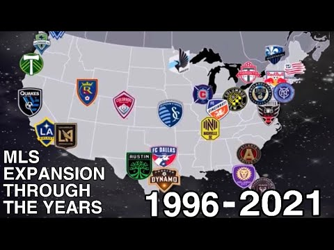 MLS Expansion Through The Years (1996-2021)