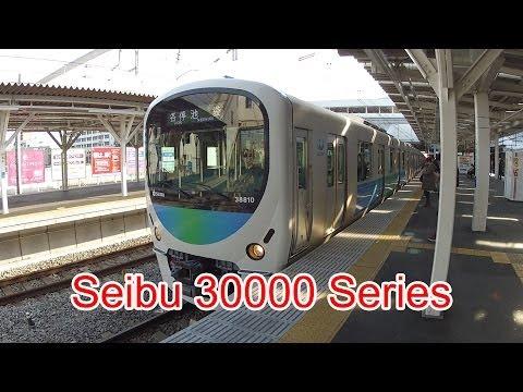 Japan Railway, Seibu Ikebukuro Line, 30000 Series, 38810, Tokorozawa Station, 11/28/2013 (видео)