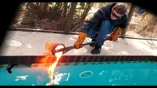 Video Pouring lava in my pool! MP3, 3GP, MP4, WEBM, AVI, FLV Juli 2019