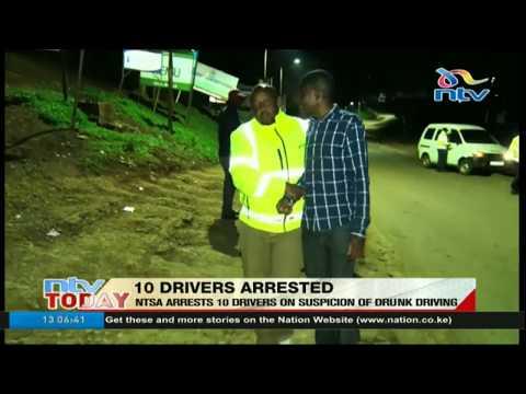NTSA net 10 drunk drivers in overnight operation (видео)
