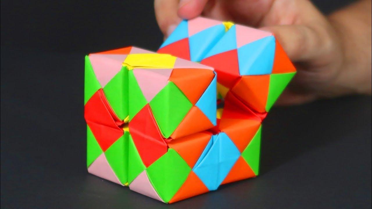 Cómo hacer un CUBO INFINITO de papel - Manualidades, Origami ...