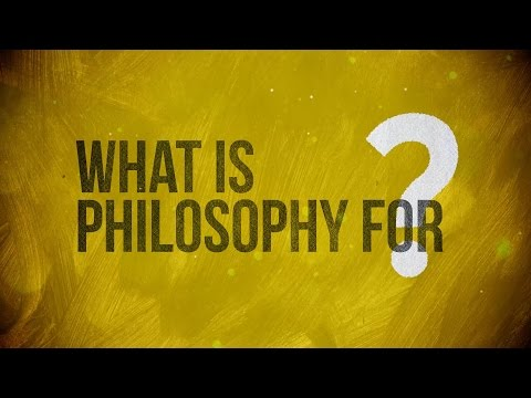 "Video. Del canal The School of Life: ""What is Philosophy for?"""