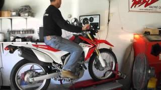 8. Dyno testing stock Honda CRF 250L     Pro Cycles LLC