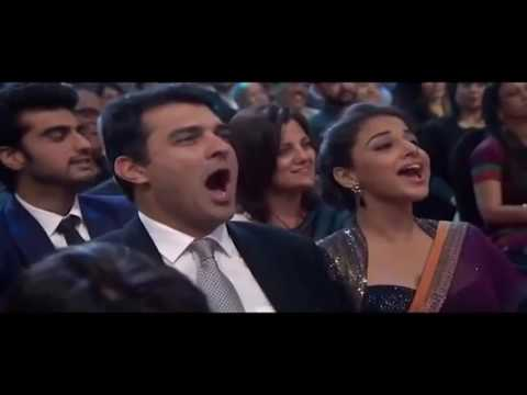 Salman Khan Funny Performance In Front Of Aishwarya Rai At 23rd Star Screen Awards 2017