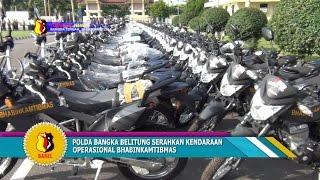 POLDA BANGKA BELITUNG SERAHKAN KENDARAAN OPERASIONAL BHABINKAMTIBMAS