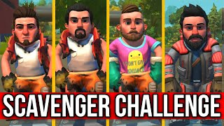 WHO IS THE BEST SCAVENGER?! - SCRAP MECHANICS SURVIVAL CHALLENGE!