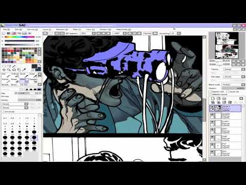 Speed Painting 96 Souls Page 6 Panel 3 (Teaser) | Time Lapse Digital Sequential Art Commission