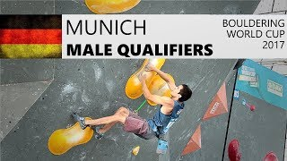 Munich Bouldering World Cup 2017 | Male Qualifiers by OnBouldering