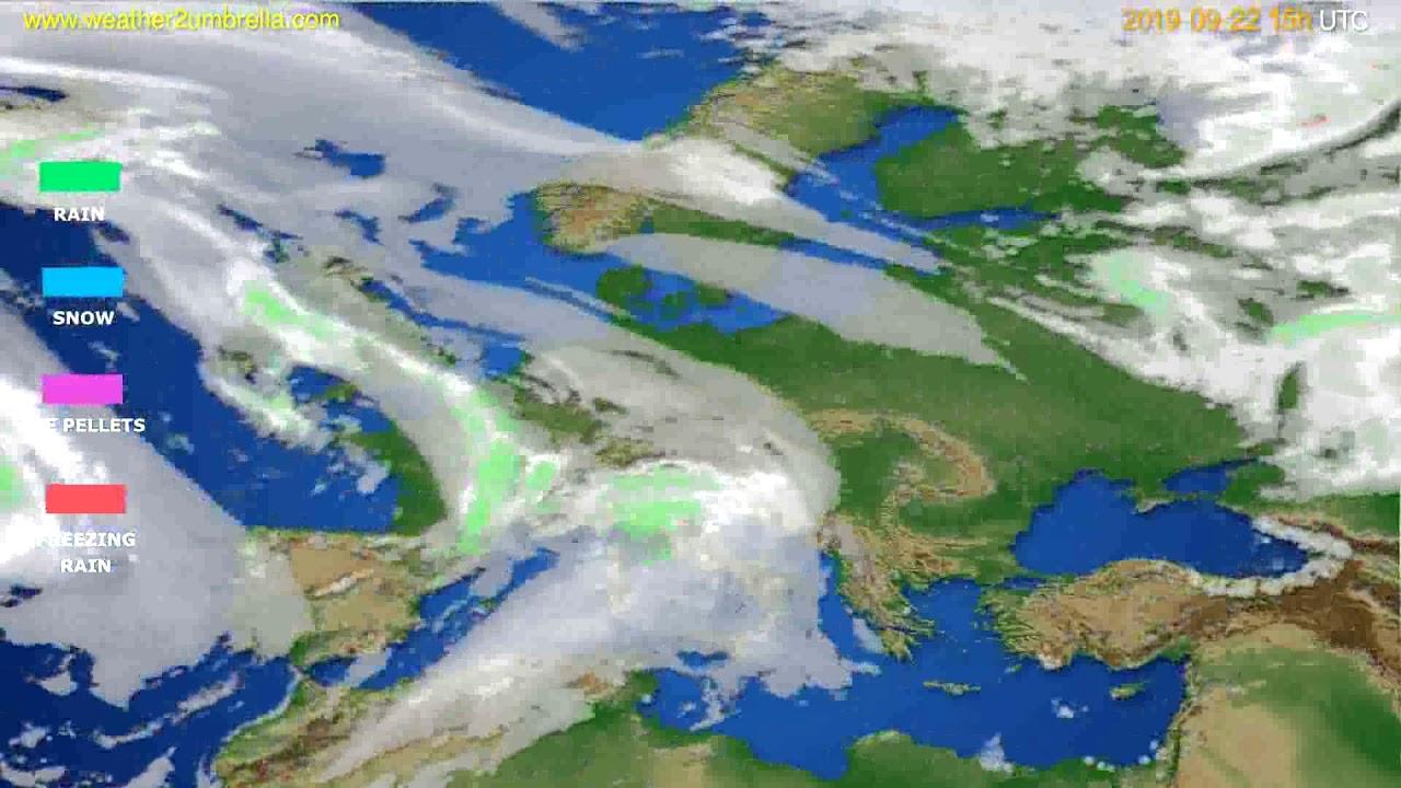 Precipitation forecast Europe // modelrun: 12h UTC 2019-09-19