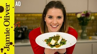 Lentil Tabbouleh with Seabass   Katie Pix   Ad by Jamie Oliver