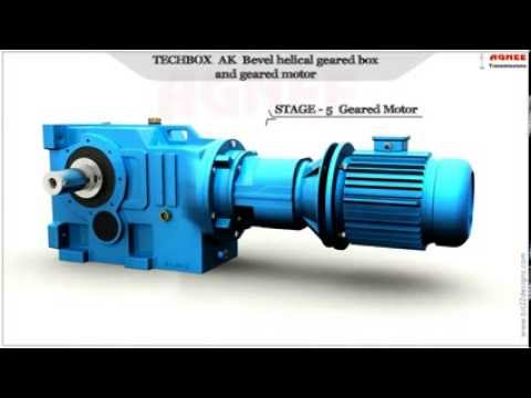 Bevel Helical Geared Motor, AK series Helical Bevel Geared Motor