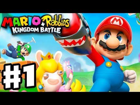 Mario + Rabbids Kingdom Battle - Gameplay Walkthrough Part 1 - World 1 Ancient Gardens! 2 Hours! (видео)