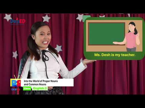 Grade 3 English Q1 Ep 9 Identify and use common and proper nouns correctly