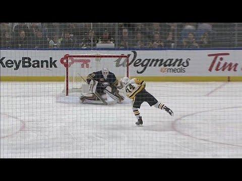Video: Penguins' Kuhnhackl draws penalty, roofs penalty shot over Sabres' Lehner