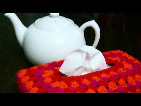 Crochet Tissue Box Cover | Tissue Box Cover