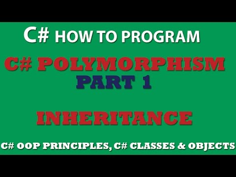 C# OOP Principles Part 1 – C# Inheritance (Polymorphism via inheritance)