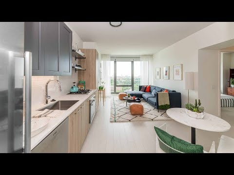 A sunny 1-bedroom model at the new Landmark West Loop