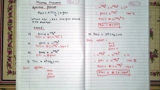 Master Theorem [Hindi] | DAA | Example 1