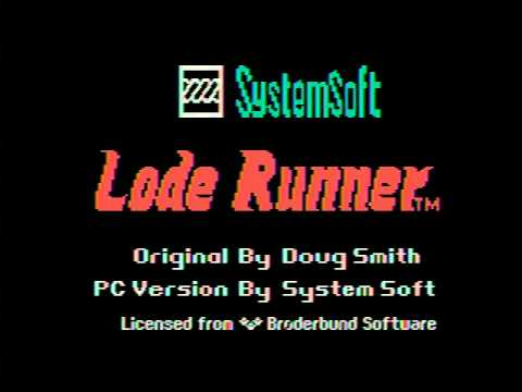 Lode Runner (for PC-6001/PC-6601/PC-6001mkⅡ)  retro pc game 1984