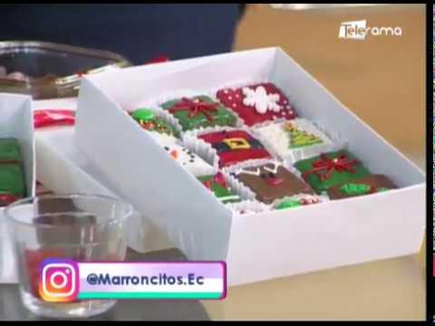 Aprenda a realizar brownies navideños
