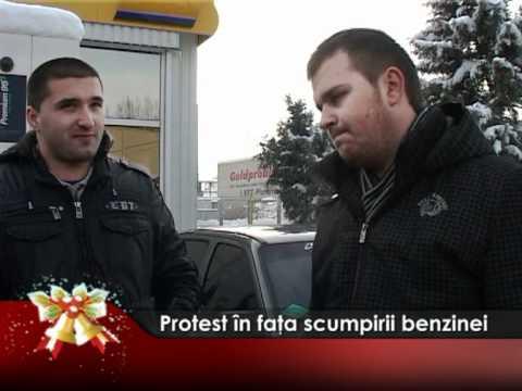 Protest în faţa scumpirii benzinei
