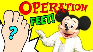 PAW PATROL Doctor Mickey Mouse Operation Foot Surprise with Donald Duck Funny Video