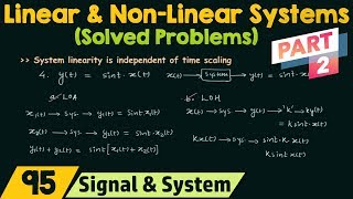 Linear and Non-Linear Systems (Solved Problems) | Part 2