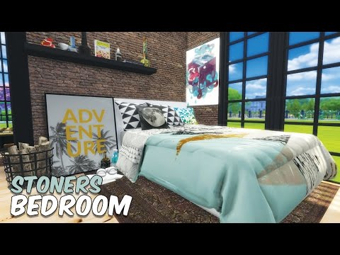 Sims 4 || SPEED BUILD: High School Cliques - The Stoner's Bedroom (SPAM WEEK DAY 7)