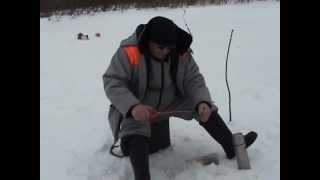 Зимняя рыбалка на реке Пожег.