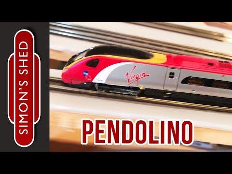 Virgin Pendolino Model train running session (n gauge)