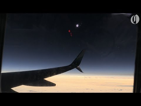 Alaska airlines eclipse flight first to witness totality 2017 (видео)