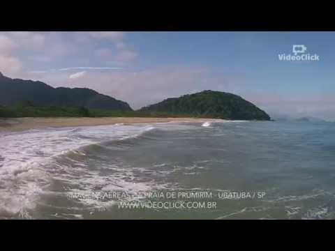 Imagens aéreas da Praia de Prumirim em Ubatuba - SP