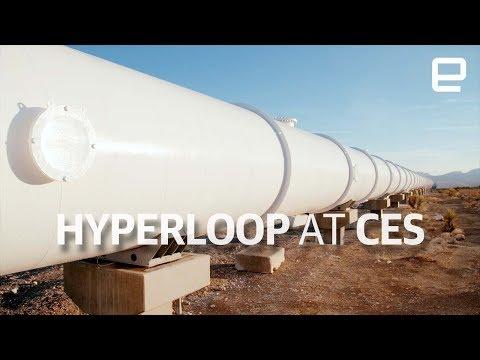 Hyperloop test track tour at CES 2018 (видео)
