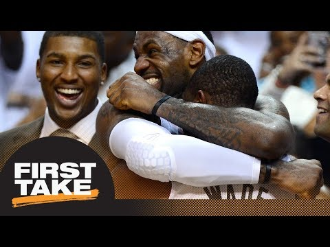 Could LeBron James rejoin Dwyane Wade on Heat? | First Take | ESPN