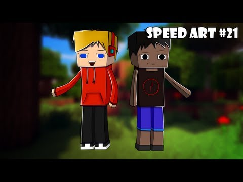 SpeedArt Minecraft [Lex2746 and MrBald Morgan] #21