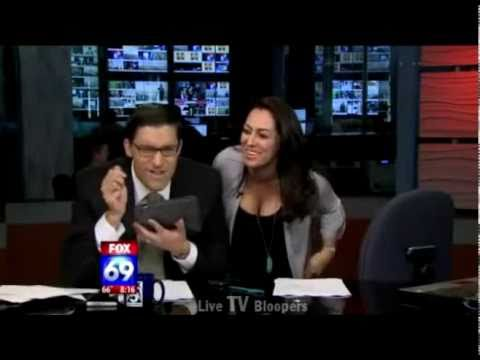News anchor licks iPAD on Live TV (prank)