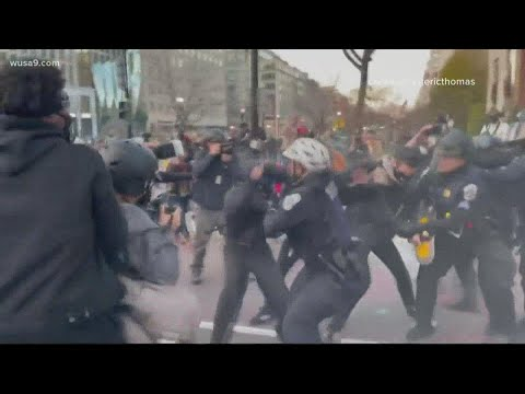 Arrests made during MAGA March, pro-Trump supporters and counter-protesters clash in DC