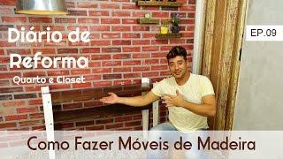 Este vídeo faz parte do Diário de Reforma e vou mostrar como é fácil e rápido fazer um móvel com madeiras que temos em casa.Playlist do Diário de Reforma:https://www.youtube.com/playlist?list=PLjAVb545laYg3Q79YTVOZzblo90NMOZLwMinha Caixa Postal:Caixa Postal: 76222 CEP:02737-970 São Paulo - SP Fabianno OliveiraQuer saber mais sobre meu trabalho? Sigam me nas Redes Sociais:FanPage: www.facebook.com/AtelieEcoDesignBlog: www.fabiannooliveira.blogspot.com.br/Facebook: www.facebook.com/OliveiraFabiannoInstagram: www.instagram.com/fabianno_oliveira/