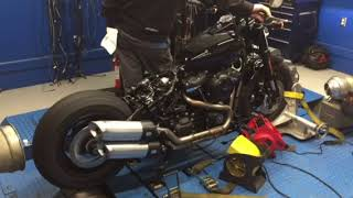 7. 2018 H-D Fat Bob getting stock base numbers before we tune it up...
