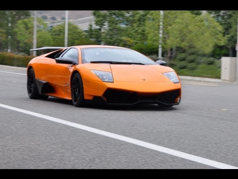 SV - BrianZuk records a stunning orange Lamborghini Murcielago LP670-4 SV! Video shows the SV on the road and accelerating, as well as some different views of the...