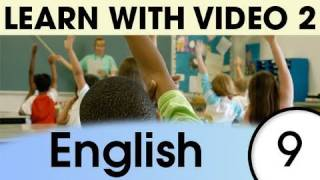 English Expressions and Words for the Classroom 2, Learn English with Video