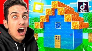 TESTING 10 NEW VIRAL TIKTOK BUILDING HACKS You DIDN'T KNOW in MINECRAFT! NO MODS!