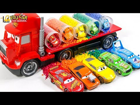 Learning Color Disney Pixar Cars Lightning McQueen Mack Truck sand Play for kids car toys